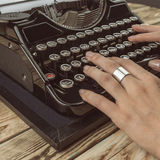 Woman writer working Royalty Free Stock Photography