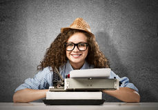 Woman writer Stock Photography