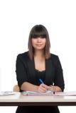 Woman writes into a file Royalty Free Stock Photos