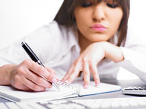 Woman Writing Royalty Free Stock Photo