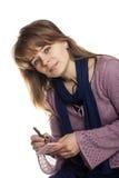 Woman writing Royalty Free Stock Photo