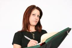 Woman writing Stock Photo