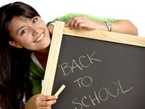 Woman writing back to school Royalty Free Stock Images