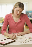 Woman Writing Letter Stock Image