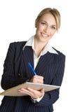 Woman Writing Notes Stock Photos