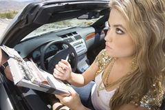 Woman Writing On Traffic Ticket Royalty Free Stock Photo