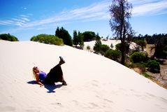 Woman on Wyperfeld Dune Stock Image