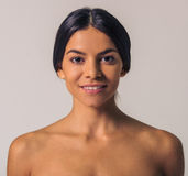 Woman& x27; bellezza naturale di s Fotografie Stock Libere da Diritti