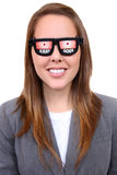 Woman with X-Ray Glasses Royalty Free Stock Images