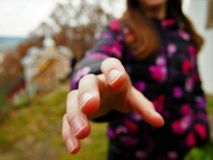 Woman& x27; s ręka Zdjęcie Stock