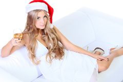Woman xmas Stock Photo