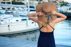 Woman&yachts-003 Stock Photography