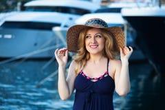 Woman&yachts-009 Zdjęcie Stock