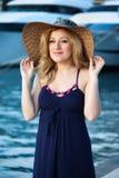 Woman&yachts-007 Zdjęcie Stock