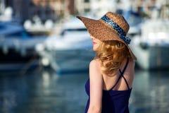 Woman&yachts-015 Arkivbilder