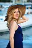 Woman&yachts-001 Stock Image