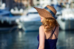 Woman&yachts-015 Stock Images