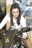 Woman Yamaha Team Royalty Free Stock Photos