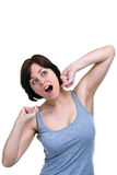 Woman yawning Stock Photos