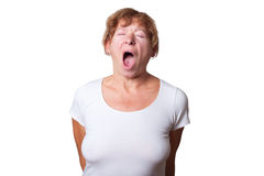 Woman yawning. Stock Photography