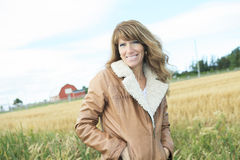 Woman 60 years old countryside Stock Photography