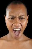 Woman Yelling Stock Photo