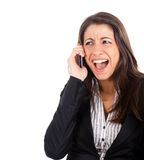 Woman yelling Royalty Free Stock Photo
