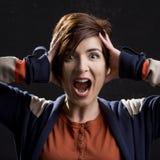 Woman yelling Royalty Free Stock Photos