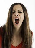 Woman Yelling Royalty Free Stock Photography