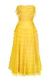 Woman yellow dress Stock Photo