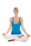 Woman yoga Royalty Free Stock Photography
