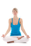 Woman yoga Stock Photography
