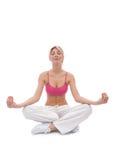 Woman at yoga Stock Photos