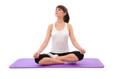 Woman at yoga Royalty Free Stock Photography