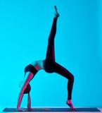 Woman yoga exercices Stock Image