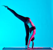 Woman yoga exercices Royalty Free Stock Photo