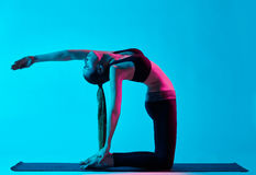 Woman yoga exercices Stock Images