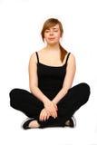 Woman yoga- exercises. Young woman making yoga- exercises Royalty Free Stock Photos