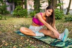 Woman Yoga Exercises Royalty Free Stock Image