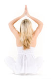 Woman in yoga lotus pose Royalty Free Stock Photo