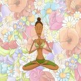 Woman yoga meditating Stock Photos