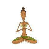 Woman yoga meditating Stock Image