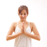 Woman yoga meditation Stock Images