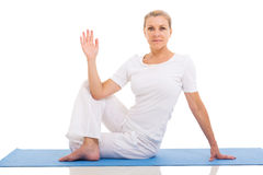 Woman yoga pose Royalty Free Stock Photo
