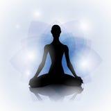 Woman in yoga pose vector illustration