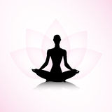 Woman in yoga pose Royalty Free Stock Image