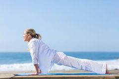 Woman yoga pose Stock Image