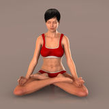 Woman in yoga pose meditating Royalty Free Stock Photo