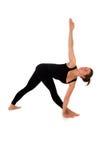 Woman in yoga pose on white Stock Photo