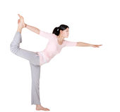 Woman yoga poses Stock Images